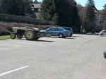 you know you are in the countryside when people bring their tractors to the supermarket...