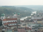 view from youth hostel in passau