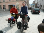 dean and matt setting off from passau