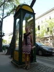 very tall phone box!