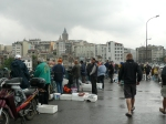 fishing on galata bridge