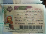 christine's iranian visa - check out the photo!