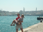 pete trying to throw christine in the bosphorus!