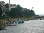 Traditional fishing village on Black Sea coast