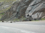 Gives new meaning to those signs warning of rocks falling on the road.