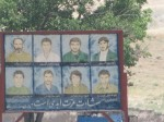 Martyrs from the Iran-Iraq war; every town has pictures of the men from that town who died.