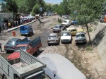 It was busy in Kandovan, so people decided to park in the river. As you do.
