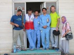 The kind Red Crescent guys that put us up for the night in Ev Oghli.