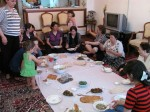 Christine at a ladies-only party. Great opportunity to see what life is really like for women in Iran. No headscarves, but they are hastily donned if a man walks in.