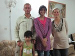 Christine and Pete with Sahar and Sina, children of the kind family that put us up for the night in Marand