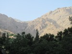 The mountains in the north of Tehran. Great to visit to escape the heat and the smog of the city.
