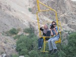 Being filmed while on a chairlift in Northern Tehran.