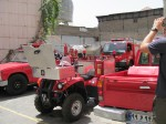They need tiny fire engines in the Grand Bazaar in Tehran, to get around the alleyways that cover over 10 sq km.