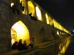 Si-O-Seh bridge in Esfahan. Absolutely lovely in the evening, when people sit in the arches relaxing and maybe playing music. The river is also low enough to allow people to wade across easily rather than walking across the bridge - very pleasant!