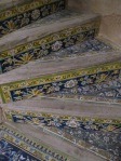 Colourful inlaid steps in Ali Qapu palace, Esfahan