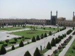 View of Imam Khomeini Sq, the second largest square in the world (ok actually its a rectangle) after Tianamen square