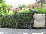 Iranian bicycle; love the panniers and the mechanical brakes (no cables involved!)
