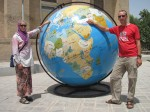 Naff photo by the globe outside the Natural History museum in Esfahan. Had to be done!