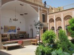 Courtyard of hotel we stayed in in Yazd; wonderful place to relax and escape the afternoon heat