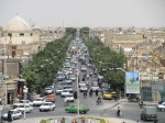 View of main street in Yazd 'new town'; like all other roads in Iran, chaos reigns!