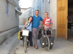 Cat and Adam, two aussie cyclists cycling from London to Melbourne, who we met in Bukhara