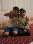 Cute kids in the great homestay we had shortly after leaving Bukhara