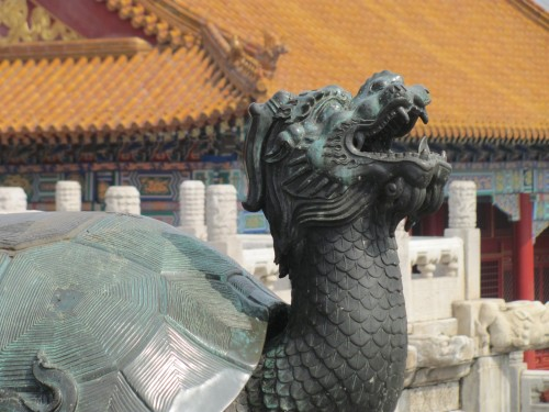 Laughing turtle, which symbolizes peace and stability