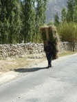 Man carrying an awful lot of hay!