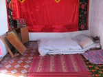 Bedroom in the homestay in Karakol.