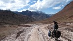 Atrocious road on Kizil Art pass that delineates the Tajik/Kyrgyz border