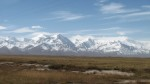 Looking back towards Tajikistan from Kyrgyzstan. Believe it or not some of those peaks are over 7000m, meaning they are only 1000m or so smaller than Everest. They don't look so big because the valley we are in lies at almost 4000m.