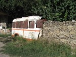 Recycling at its best - inventive use of half of an old bus