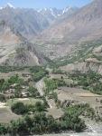 Afghan village on alluvial plain