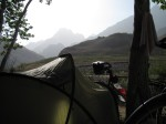 Camping in Gunt valley (before the cows invaded!)