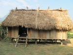 Typical Vietnamese White Thai ethnic minority village house