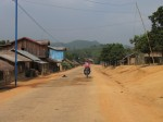 Hmong hill tribe village.