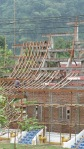 Wat being built in Laos.