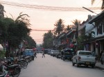 Luang Prabang main st in early evening