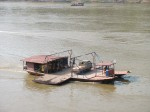 Car ferry on Mekong