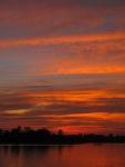 Sunset over Mekong river from Don Det.