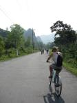 Cycling on Catba island.