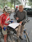 Gerrard, a French cyclist we met coming out of Hanoi, who gave some helpful hints about the road to the border.