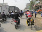 Cycling out of busy Hanoi